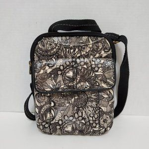 Sakroots Coated Canvas Floral Design Crossbody Bag